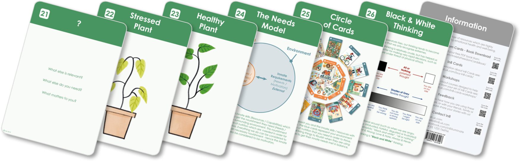 Seven information cards