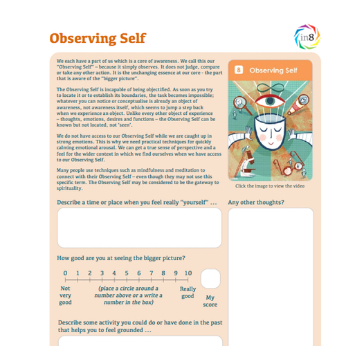 Accessing our Observing Self when under pressure